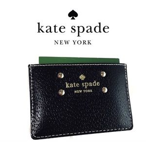 🆕 kate spade Wellesley Graham Black Card Holder